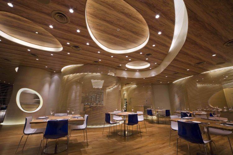 Декор с закругленными формами из гипсокартона