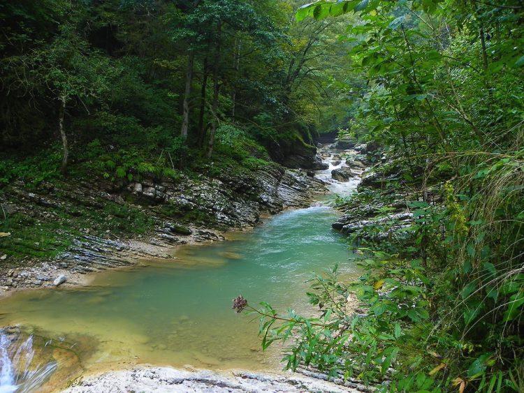 Гуамское ущелье в Краснодарском крае