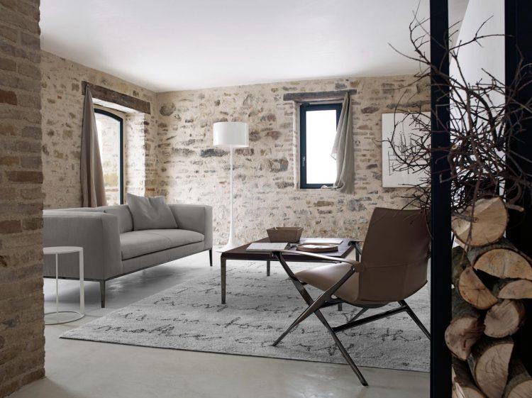 Природный камень в интерьере дома