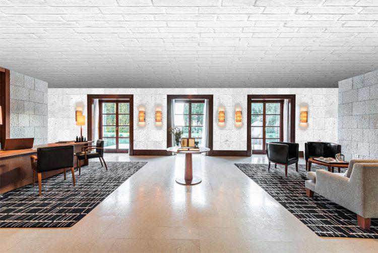 Натяжные потолки с текстурой