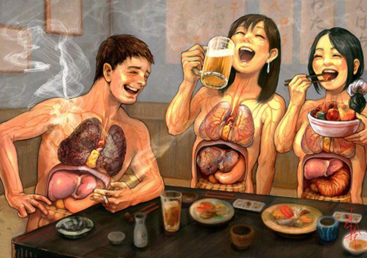нездоровый образ жизни
