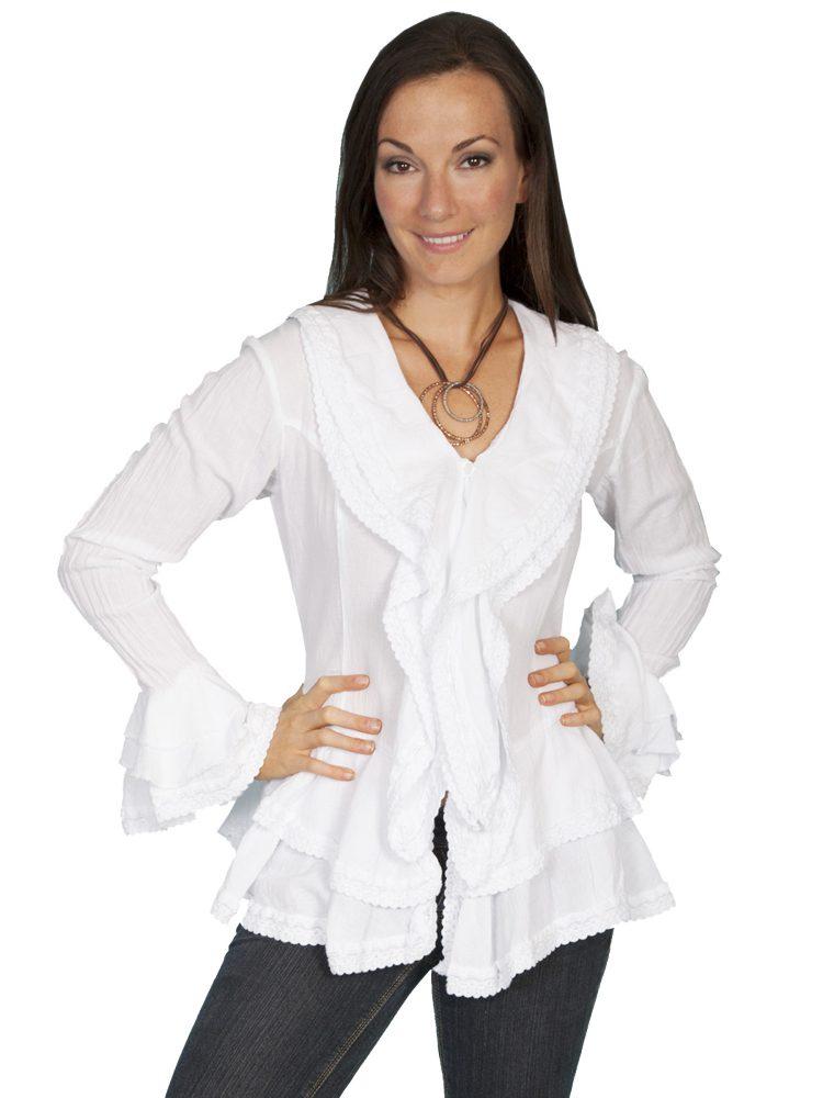 Удлиненная белая рубашка