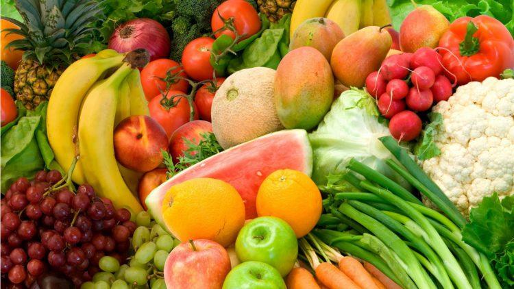 Овощи и фрукты осенью