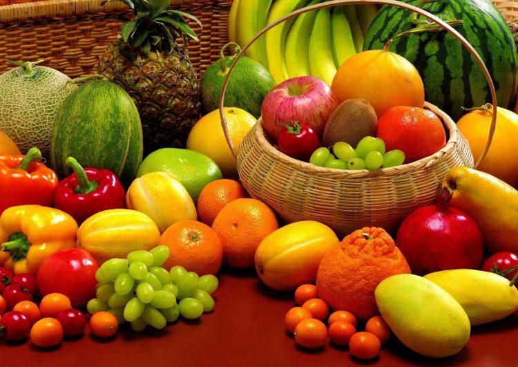 Сезонные овощи и фрукты осенью