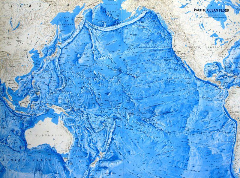 Тихий океан карта