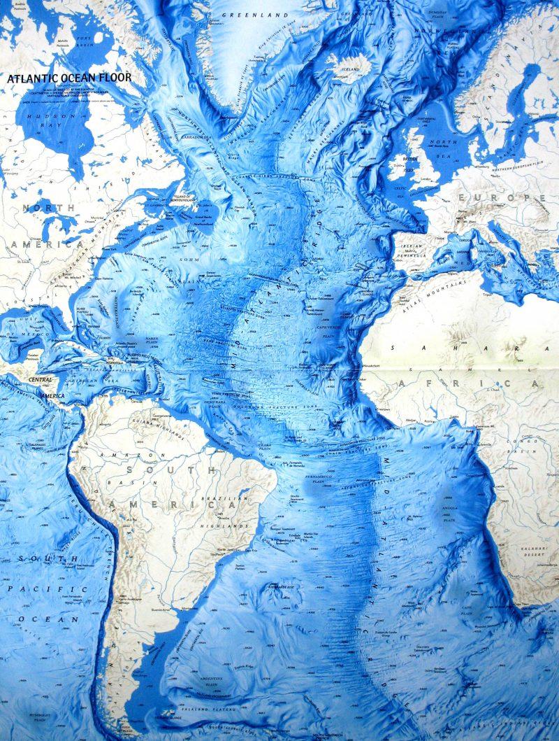 Атлантический океан карта