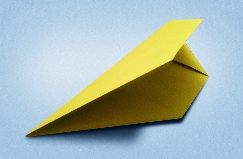 лист пополам для ровных треугольников