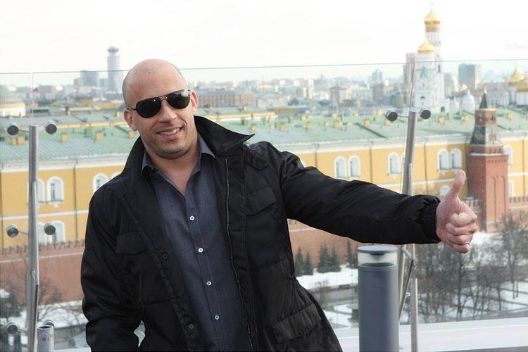 Вин Дизель в Москве перед премьерой «Форсаж 4»