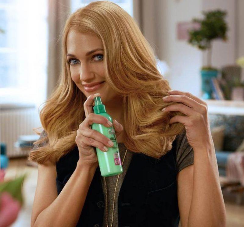 Мерьем Узерли в рекламе средств для волос Elidor