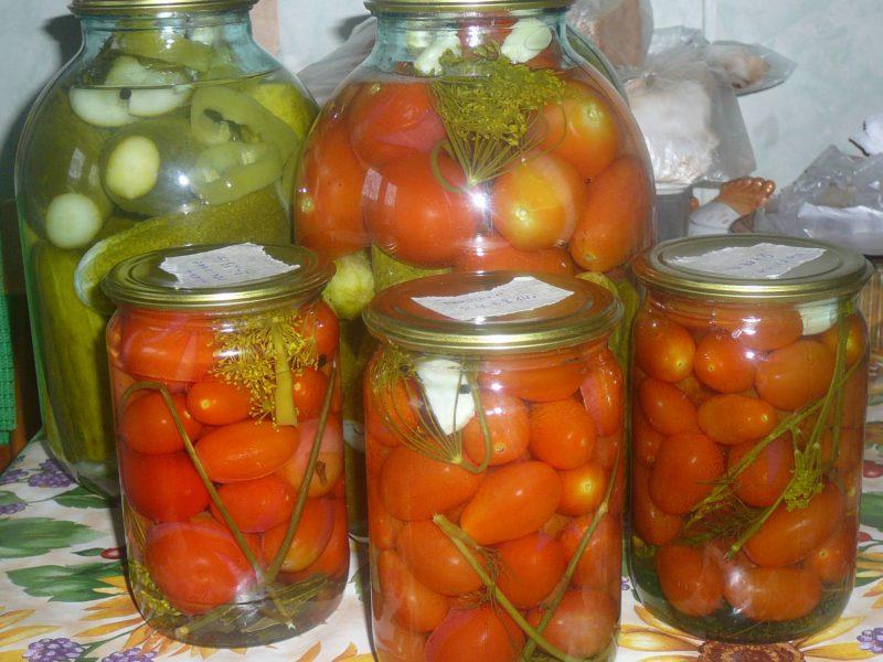 Консервируем томаты черри