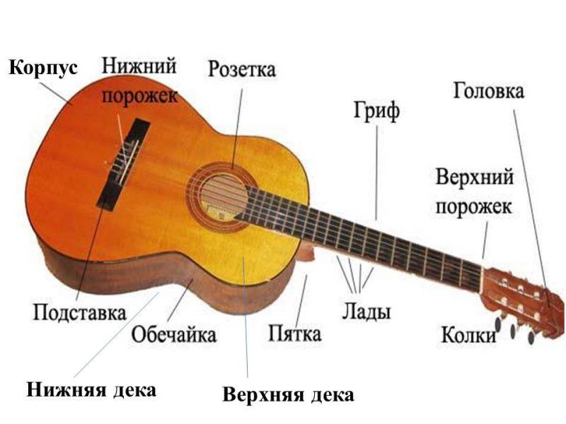 Из чего состоит гитара