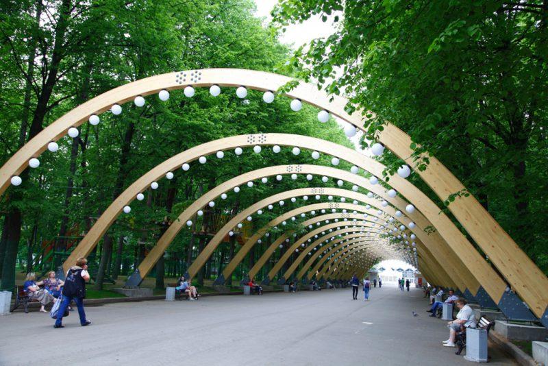 Парк Сокольники, Аллея арок