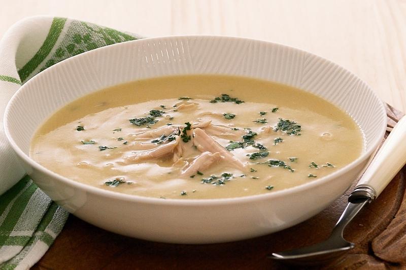 Нежный кремовый суп с курицей