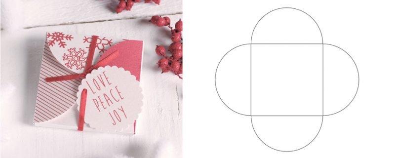 конверт с красивыми закругленными краями