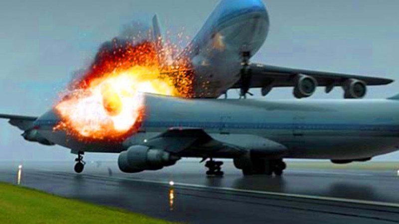 самолеты загорелись
