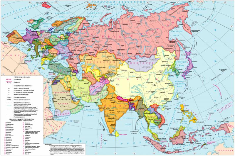 Страны Евразии