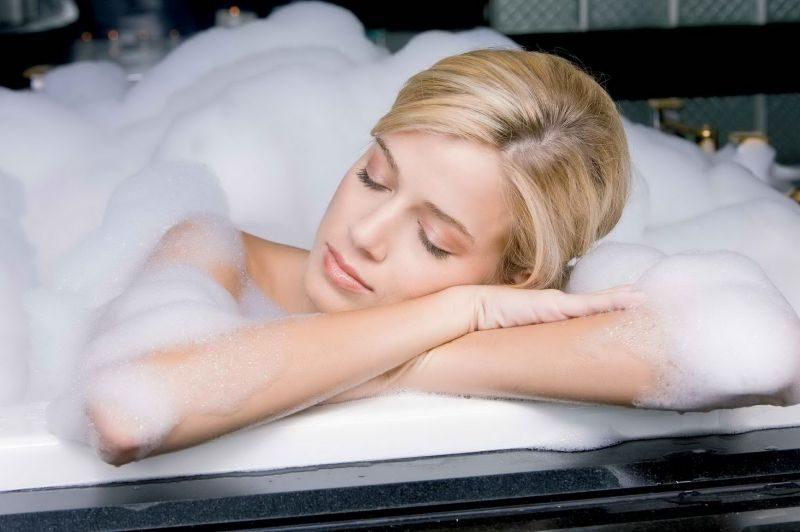 теплая ванная перед сном