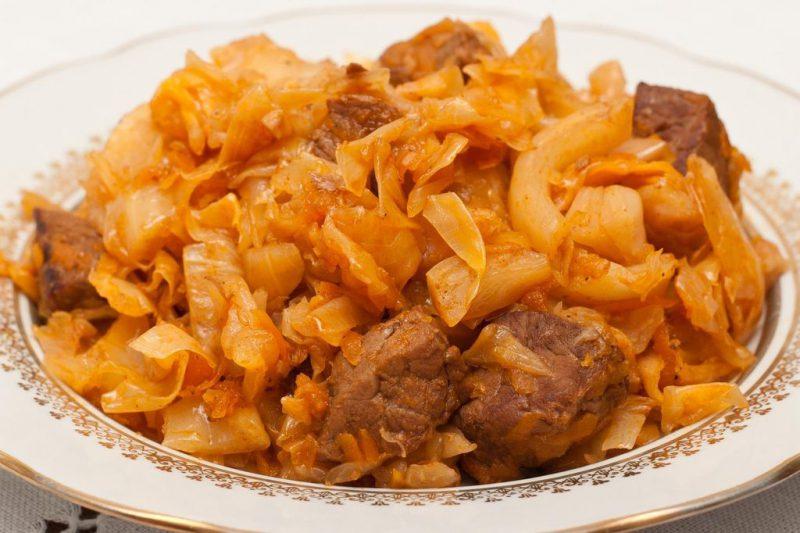 Блюда из капусты и мяса