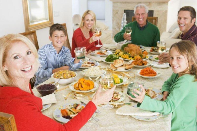 празднование в кругу семьи