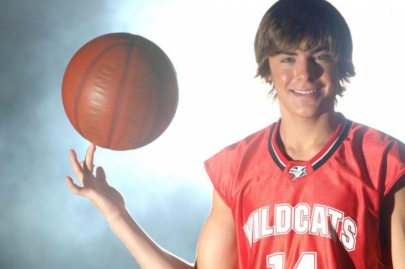 В «Классном мюзикле» Зак был баскетболистом