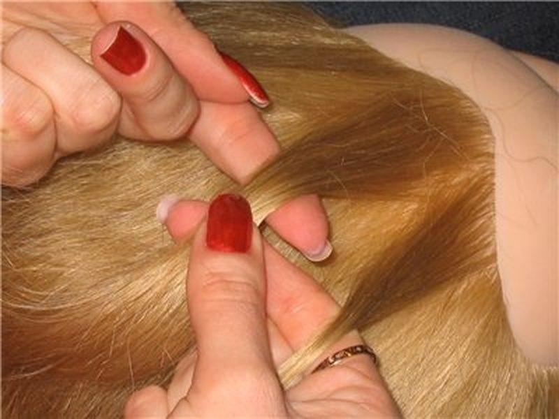 плетем колосок на голове