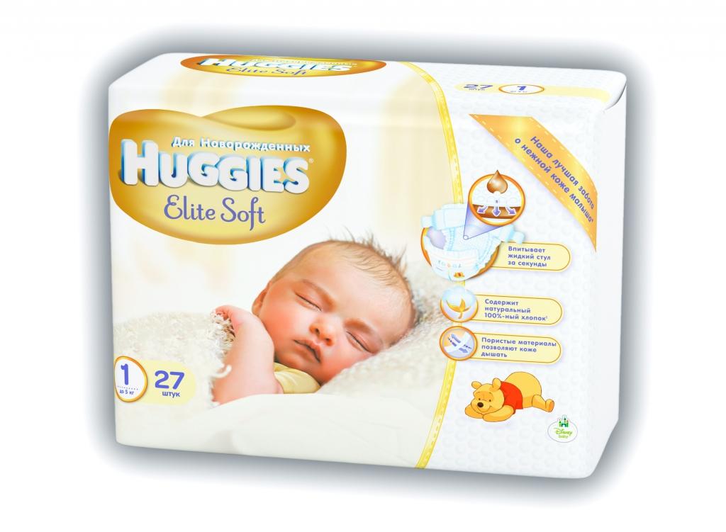 Подгузник Huggies Elit Soft