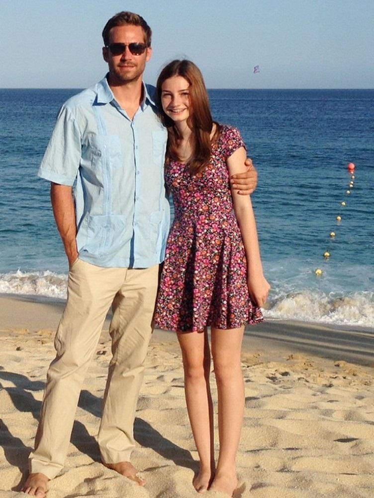 Пол Уокер с дочерью Мэдоу