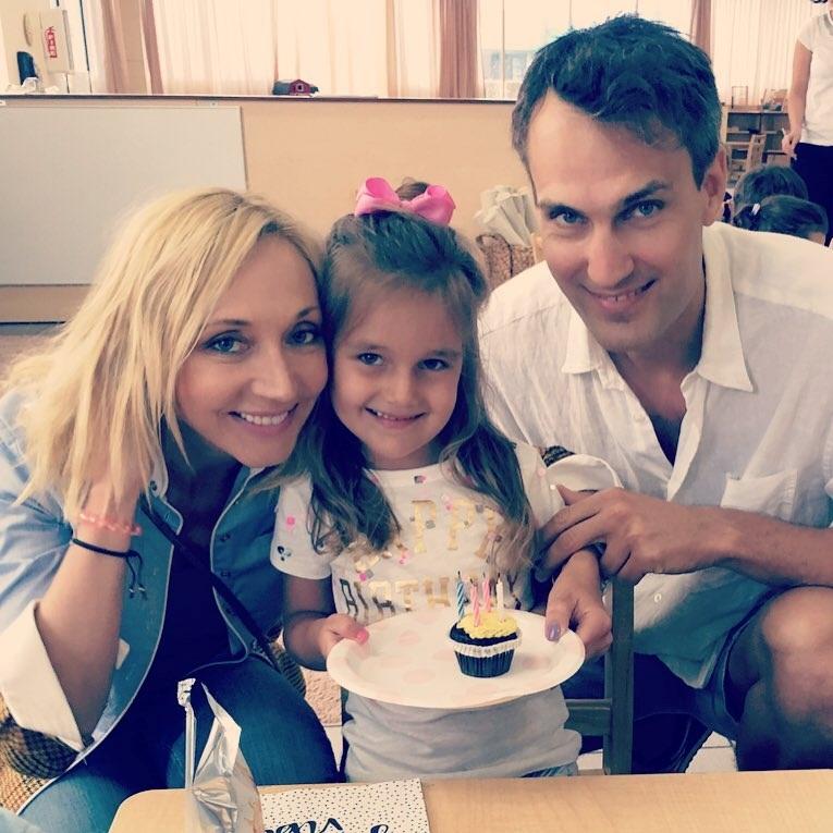 С мужем Михаилом и дочкой Клавдией
