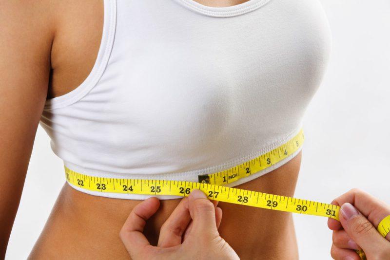 обмериваемым объемы груди