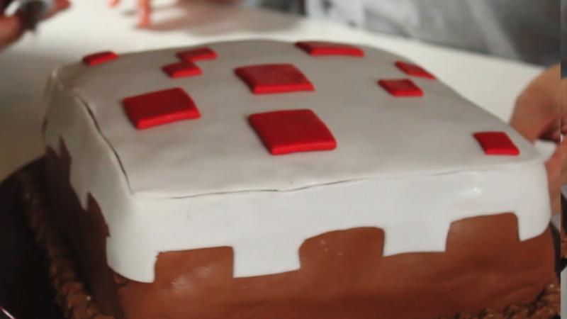 как сделать торт в майнкрафте
