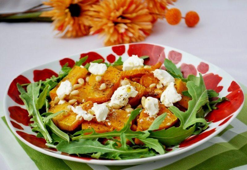 Салат из рукколы и тыквы