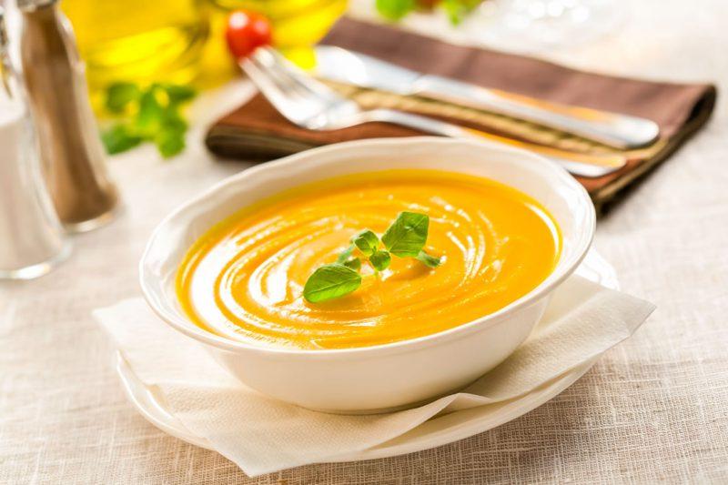 Солнечный суп-пюре из тыквы