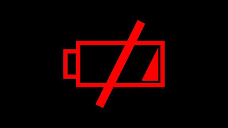 батарея на нуле