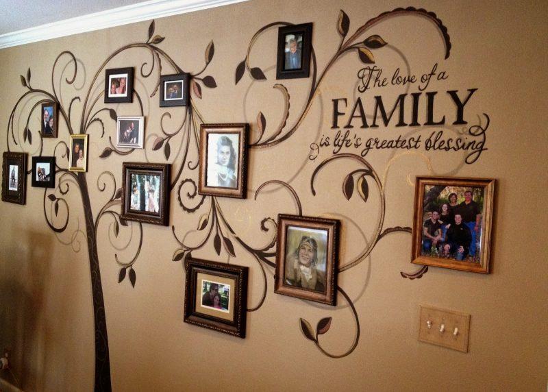 фото семьи на стене