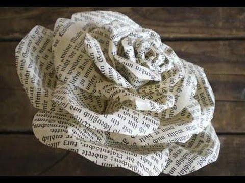 роза из мягкой бумаги