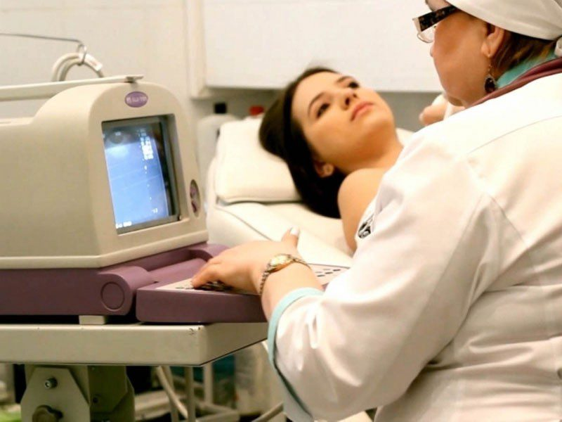 осмотр груди врачом