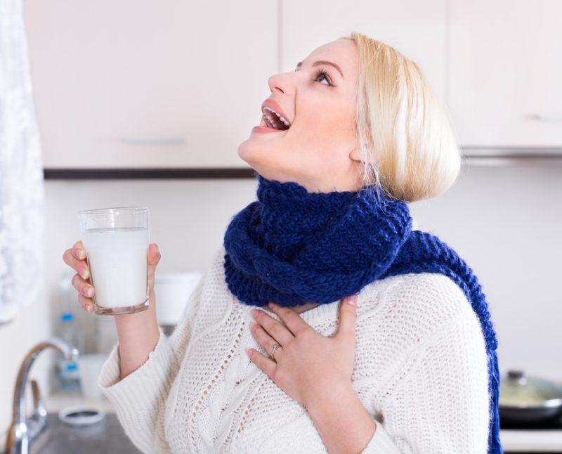 полоскание горла дома