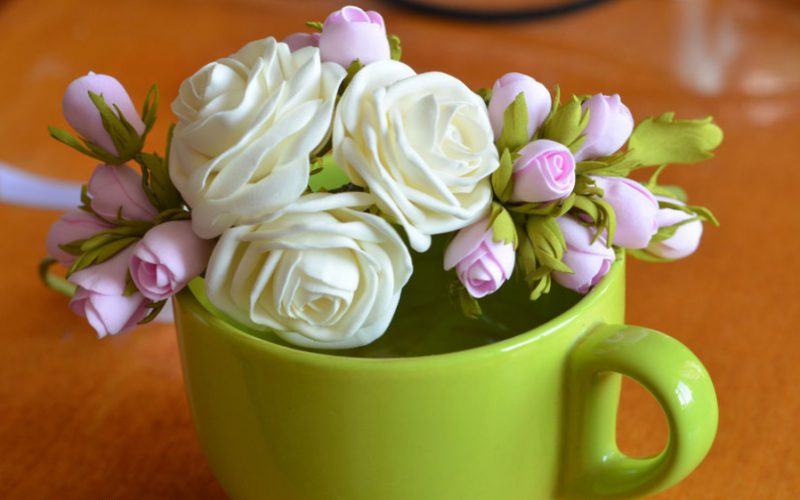 Как делать цветы из фоамирана?