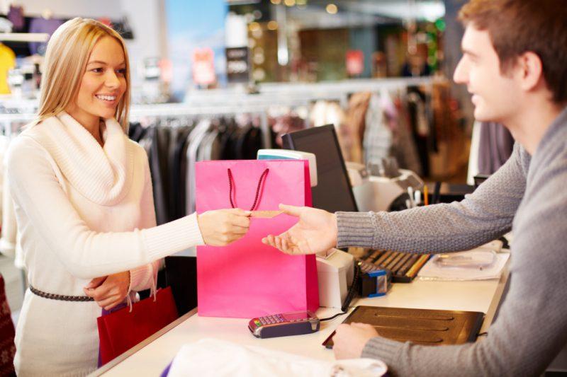 Оплата покупки в магазине