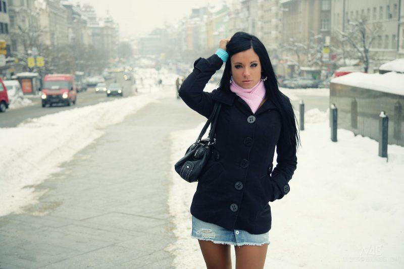 Пиджак и шарф