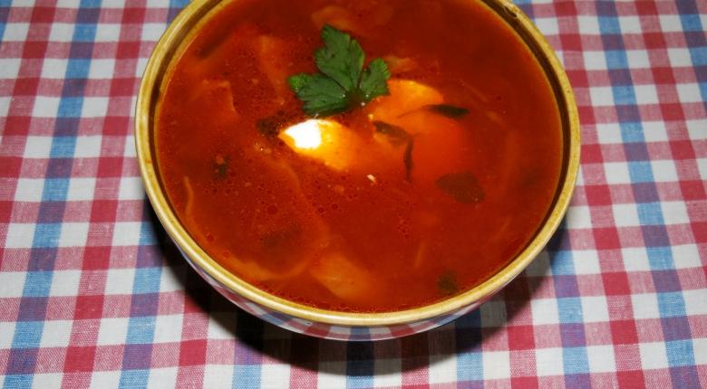 Традиционный рецепт борща