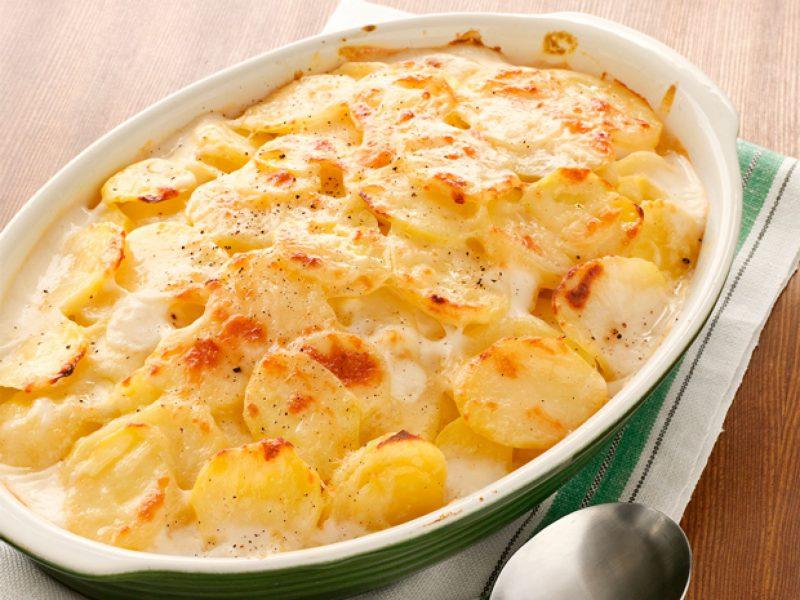 картофель В сырном соусе