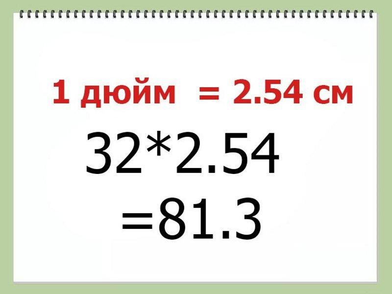 Сколько сантиметров в 1 дюйме