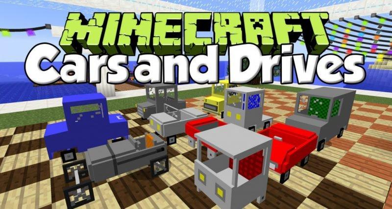 Мод Cars and Drive Майнкрафт
