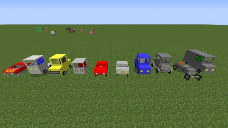 Разные автомобили в Майнкрафт