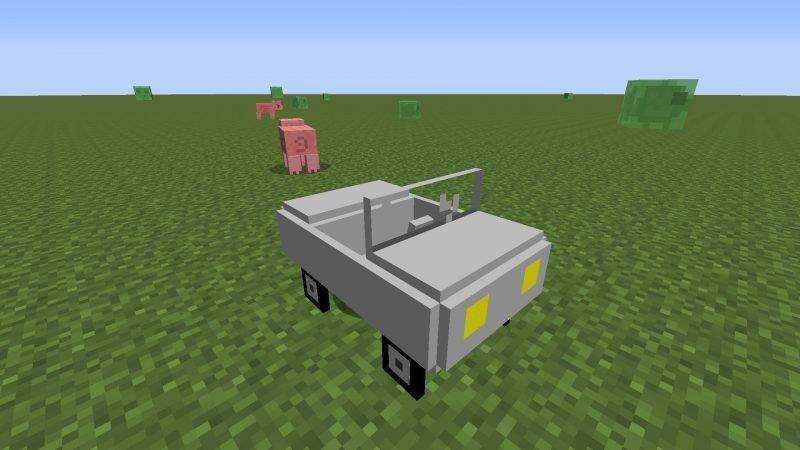Машина без двигателя Майнкрафт