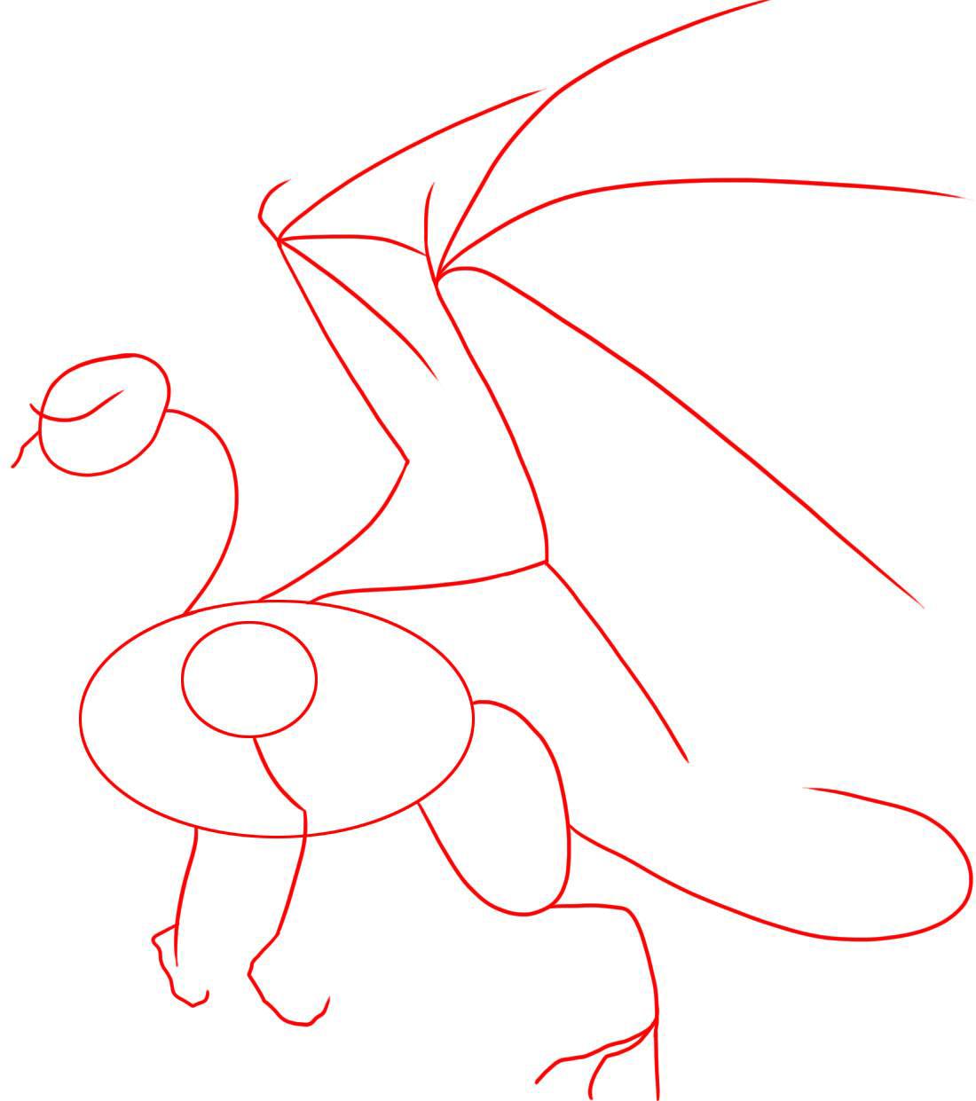 картинки как нарисовать дракона легко