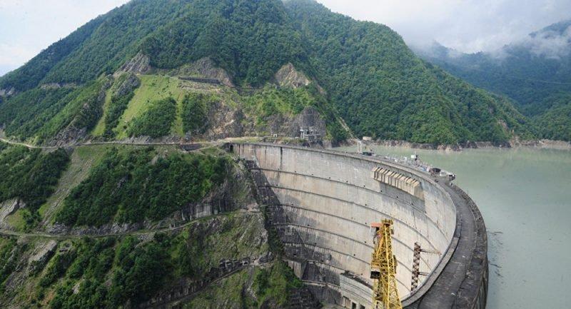 Плотина ГЭС Ингури