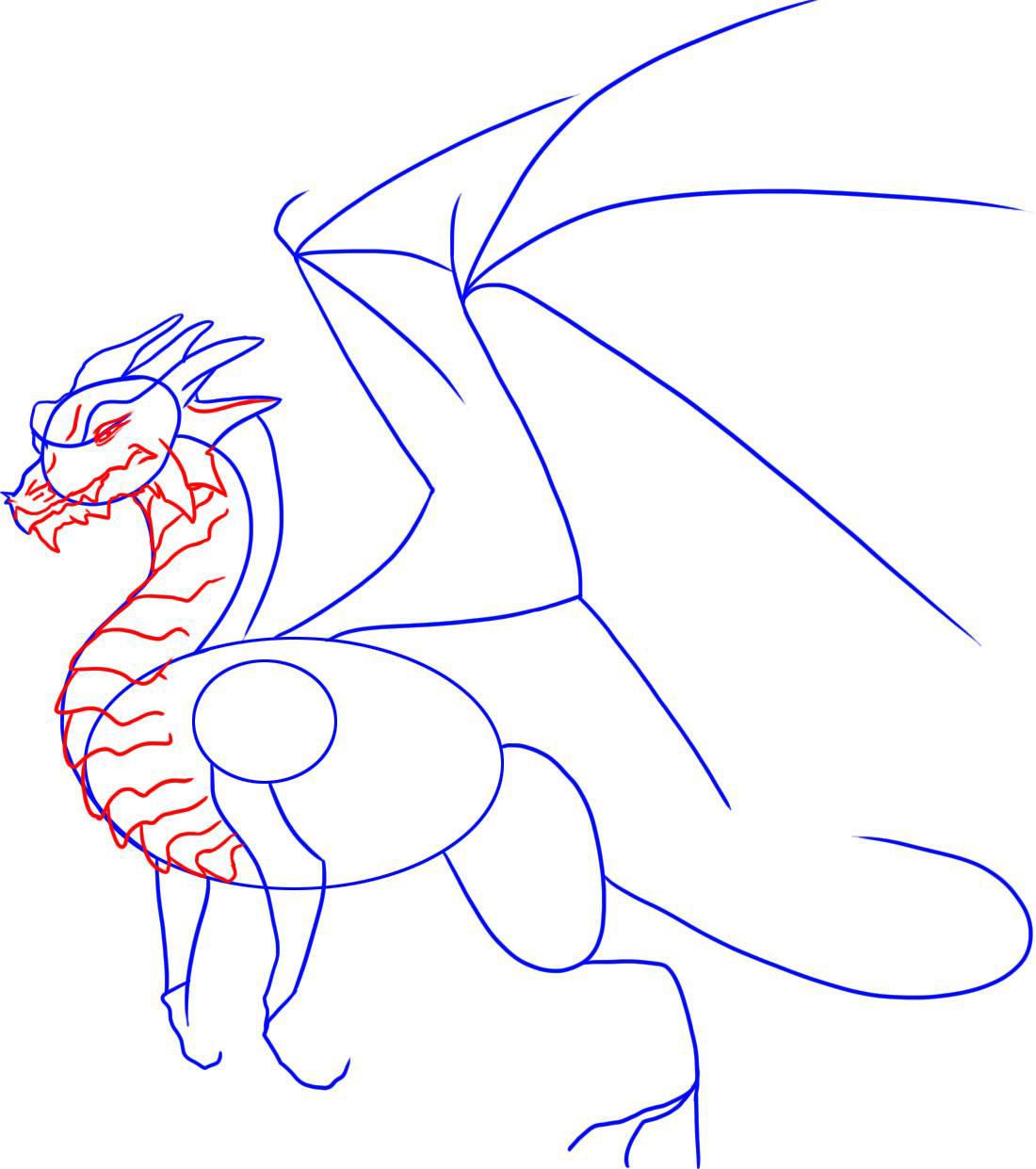 Рисовать картинки драконов поэтапно