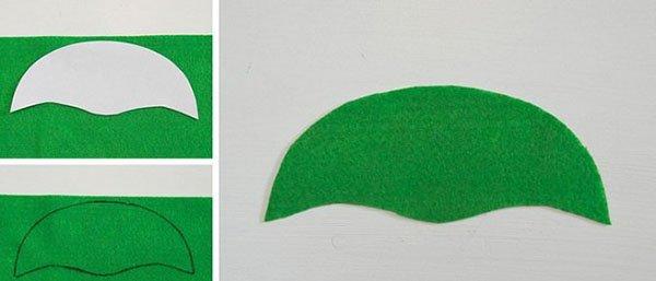 маска ниндзя из фетра